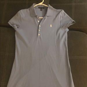 💥SALE-Polo Dress Light Blue Size Medium